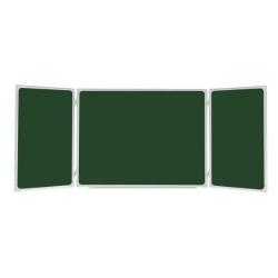 Tablica  szkolna tryptyk zielony  340 x 100