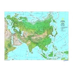 Azja - mapa fizyczna