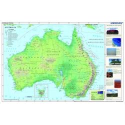 Australia - mapa fizyczna