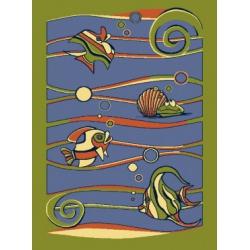 Dywan  Rybki – zieleń     4 x 5 m