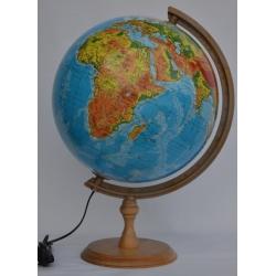 Globus fizyczny podświetlany śr. 32 cm