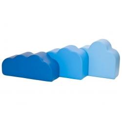 Błękitne chmurki -zestaw 3 szt