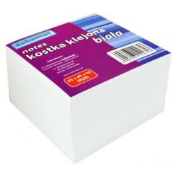 Kostka do kubika klejona biała