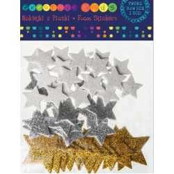Naklejki  gwiazdki  z brokatem