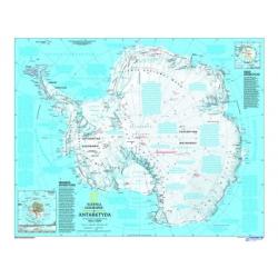 Antarktyda- mapa fizyczna
