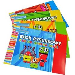 Blok rysunkowy kolorowy A4