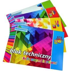 Blok techniczny kolorowy po