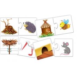 Domki i kryjówki – puzzle edukacyjne