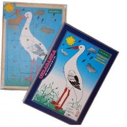 Układanka ptaki  Bocian
