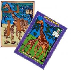 Drewnianepuzzlezkołeczkami Żyrafy