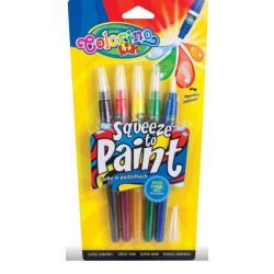 Farby w pędzelkach 5kolorów